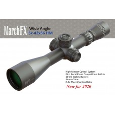 5-42x56mm Wide Angle High Master FFP FML-3 illuminated Reticle + 0.1 Mil Clicks - D42HV56WFIML Series